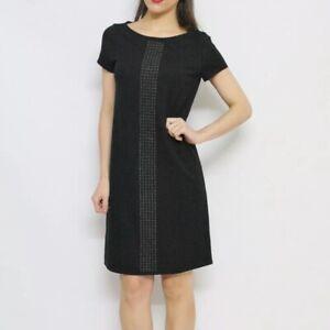 savingglory-MAX-amp-CO-MAXMARA-Black-Grommet-Detail-T-Shirt-Dress-Size-Medium-M