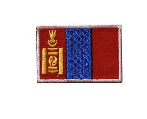 #5105 Drapeau Mongolie Broderie Fer Sur Patch-small 1 7/8 Quell Summer Soif