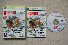 Rapala Fishing Frenzy 2009 Xbox 360 Ottima 1a Edizione Italiana Con Manuale
