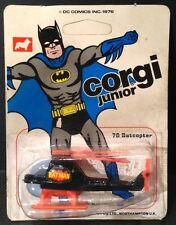 Corgi Junior #78 51039 Batman Batcopter 1976 - Carded, Sealed & Rare Unpunched