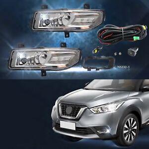 Bumper Light Fog Lamp Assembly For Nissan Kicks 2017 2018 1pair W