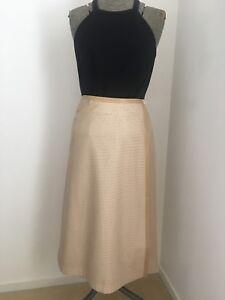 Kinki-Gerlinki-Camel-Perforated-Faux-Leather-Wrap-Skirt