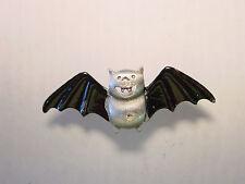 """JJ"" Jonette Jewelry Pewter 'Flying Bat' Tac Pin ~ Halloween"