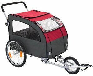 Large Dog Bike Pushchair Trailer Pet Carrier Cat Bicycle