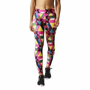 f2921d2824b00 Image is loading adidas-Womens-Ultimate-Fit-Multicoloured-Long-Gym-Tights-