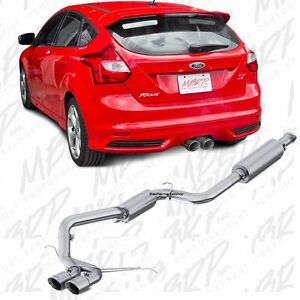 mbrp s4200al performance cat back exhaust dual 13 16 ford focus st 2 0l turbo. Black Bedroom Furniture Sets. Home Design Ideas
