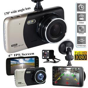 4-034-Dual-Lens-Camera-HD-1080P-170-Car-DVR-Video-Dash-Cam-Front-Rear-Recorder-IPS