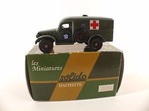 Solido-n-34-Dodge-WC54-Ambulance-reedition-Hachette-neuf-en-boite-MIB