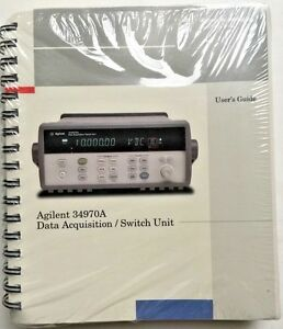 agilent hp 34970a data acquisition switch unit manual set p n 34970 rh ebay com agilent 34970a manuel agilent 34970a programming manual
