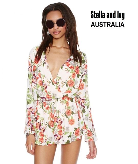 WOMENS FLORAL PLAYSUIT SIZE 12 NEW