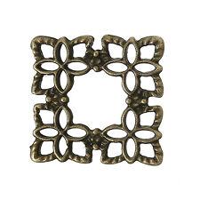 Antique Bronze Mini Square Filigree Component - pack of 20