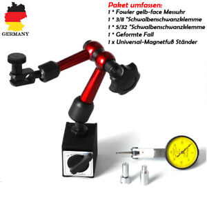 Messuhrhalter-Magnetstativ-Magnet-Messstativ-mit-Silber-Messuhr-Messuhr-0-01-mm