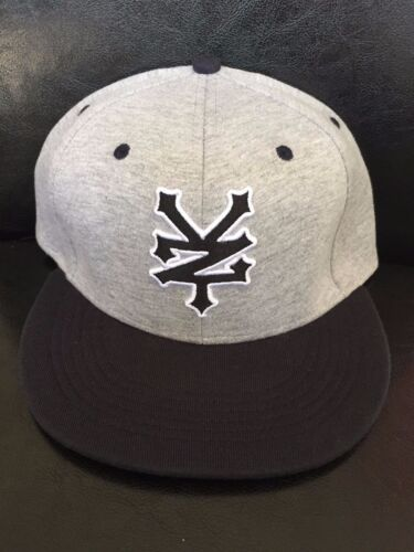 ZOO YORK CRACKER BASEBALL CAP FLAT PEAK GREY OR BLACK ONE SIZE **NEW**