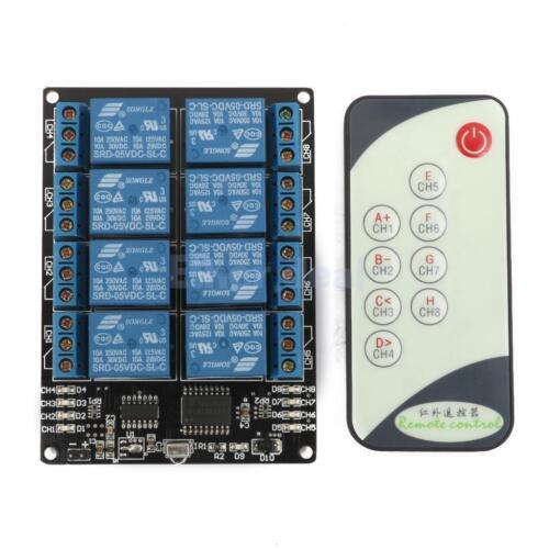 8CH 5V Wireless LED Relay Self Locking Modul mit Infrarot Fernbedienung