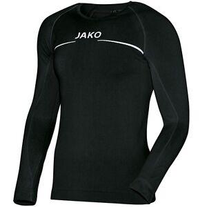 JAKO-Thermo-Shirt-Funktionsshirt-schwarz-S-M-L-XL-XXL-Funktionsunterwaesche-LA