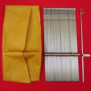 Neu-100-Nadeln-fuer-Strickmaschinen-Brother-KH260-KH270-Knitting-Machine-Needles