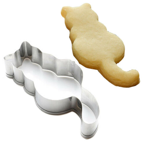 Cat Shaped Aluminium Mold Sugarcraft Cake Cookies Pastry Baking Cutter Mould DIY