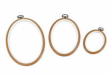 """DMC 5"""" WOOD ROUND 2 IN 1 EMBROIDERY HOOP MV0033L/130  FREE UK POST AND PACKING"""