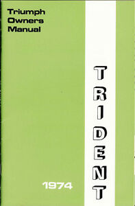1974-Triumph-Trident-750-T150-V-OEM-U-S-OWNERS-Manual-Brown-Paper-Wrap