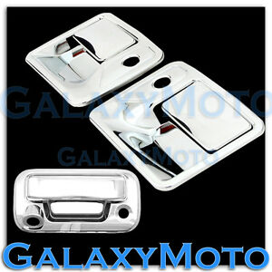 08-16 Ford Super Duty Chrome 2 Door Handle w/ PSG KH+Tailgate Camera Cover