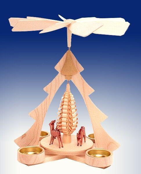 Weihnachtspyramide Rehpyramide Tischpyramide Erzgebirge Teelicht NEU