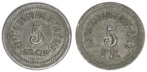 Kriegsgefangenenlager Zwickau 5 Pfennig ss-vz 55140