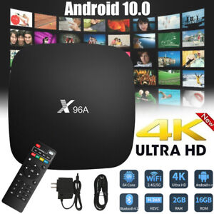 X96A Android 10.0 Wifi TV Box Quad Core 2GRAM+16GROM 3D 4K Smart Media Player