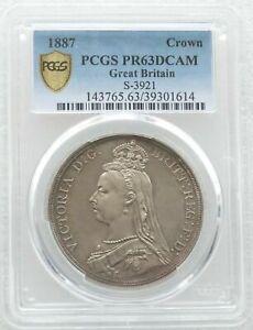1887-British-Queen-Victoria-Jubilee-Head-Silver-Proof-Crown-Coin-PCGS-PR63-DCAM
