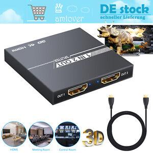 HDMI Switch 2 IN 1 Out Umschalter 4K HDMI Splitter 1 auf 2 HDMI Verteiler
