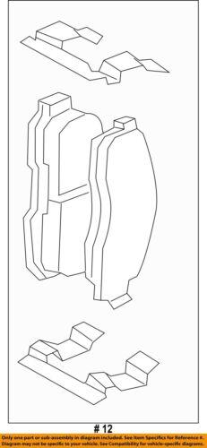 FORD OEM Brake-Front Pads 8L2Z2V001A