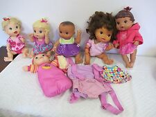 BABY ALIVE LOT  DOLLS (6) 4 BATTERY OPERATED AND  CARRIER