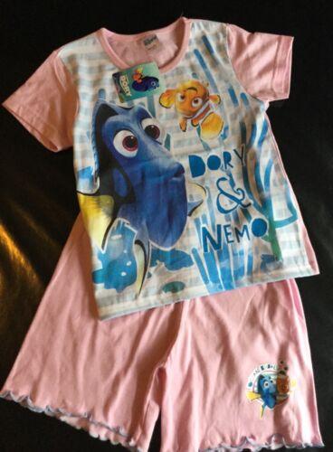 Bebé Niña 2 Piezas Pijamas O Camiseta//Pantalones Cortos Set con detalle de encontrar Dory//Nemo