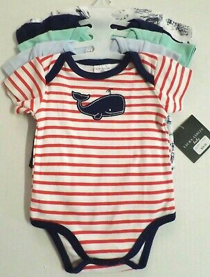 NWT Burt/'s Bees Infant 6-9 MONTHS Organic Cotton PINK Bodysuits 5-PACK