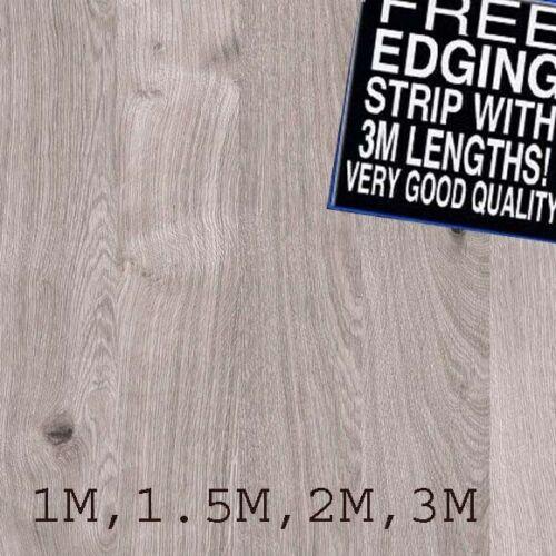 Grey longbar oak Laminate square edge Breakfast Bar 1.5M X 900MM X 40MM