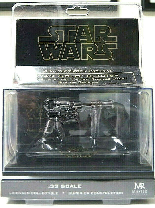 Star Wars HAN SOLO Blaster Version Chromada escala 0.33 Master Replicas