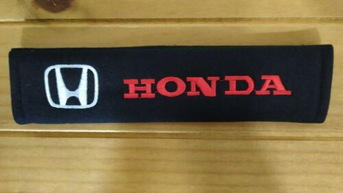 Honda Civic CR-V HR-V NSX Jazz Seat Belt Pads Cover x2 Cotton