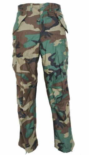 RARE GI M65 Field Pants Woodland Camo Genuine Issue Cold Weather Trousers
