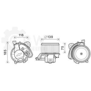 Electric Motor Heater Blower Fan Vauxhall Fiat Corsa D Van Grande Punto 199 0.9