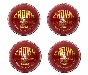 4X-CW-034-CROWN-RED-034-HIGH-Quality-4-Piece-Cricket-Ball-156-g-A-Grad