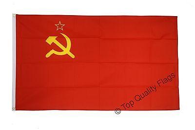 USSR Soviet Union FLAG soviet, russian Banner 90x150cm - 5ftx3ft