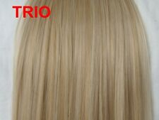 """24"""" Clip in Hair Extensions Straight Trio Blonde #14/24/613 One Piece"""