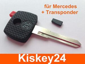 Remplacement Voiture Clé Vierge avec Transpondeur pour Mercedes Vito /& Sprinter