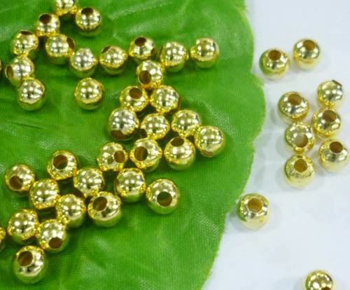2.4mm 3.2mm 4mm 5mm 6mm silver Gold plated round metal spacer bead 250PCS