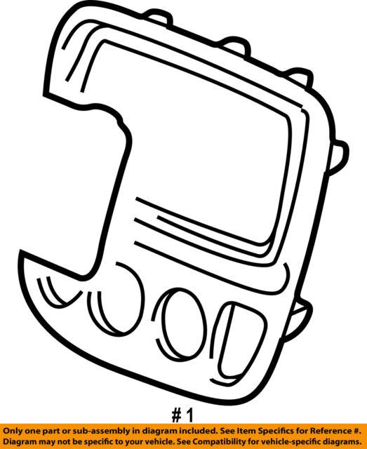 Buy 97 98 99 00 01 Honda Crv Oem Climate Heater Control Dash Bezel A