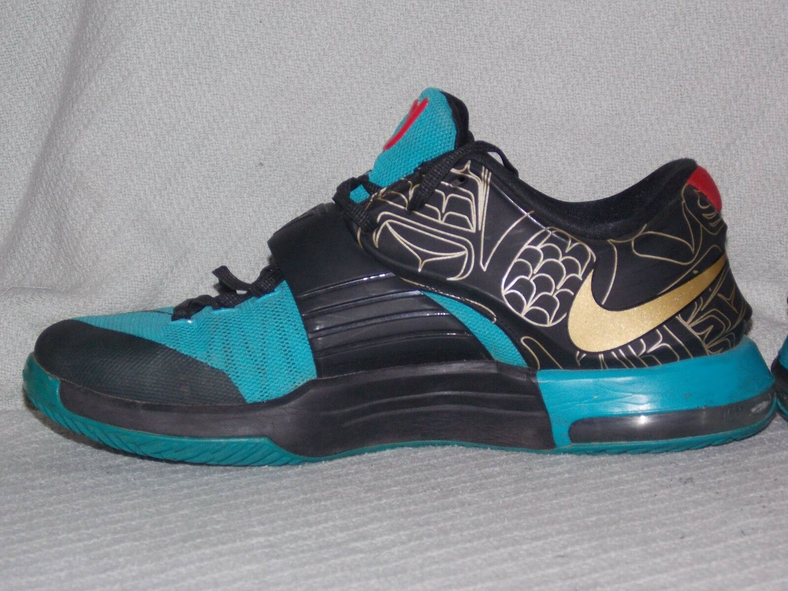 NIKE KD VII 7 N7 705135-486 Kevin Basketball Durant Size 10 Basketball Kevin Sneakers Multi-Color b0cfcc