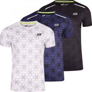 Skechers-Men-s-Sports-T-Shirt-Running-Gym-Activewear-Short-Sleeved-Breathable
