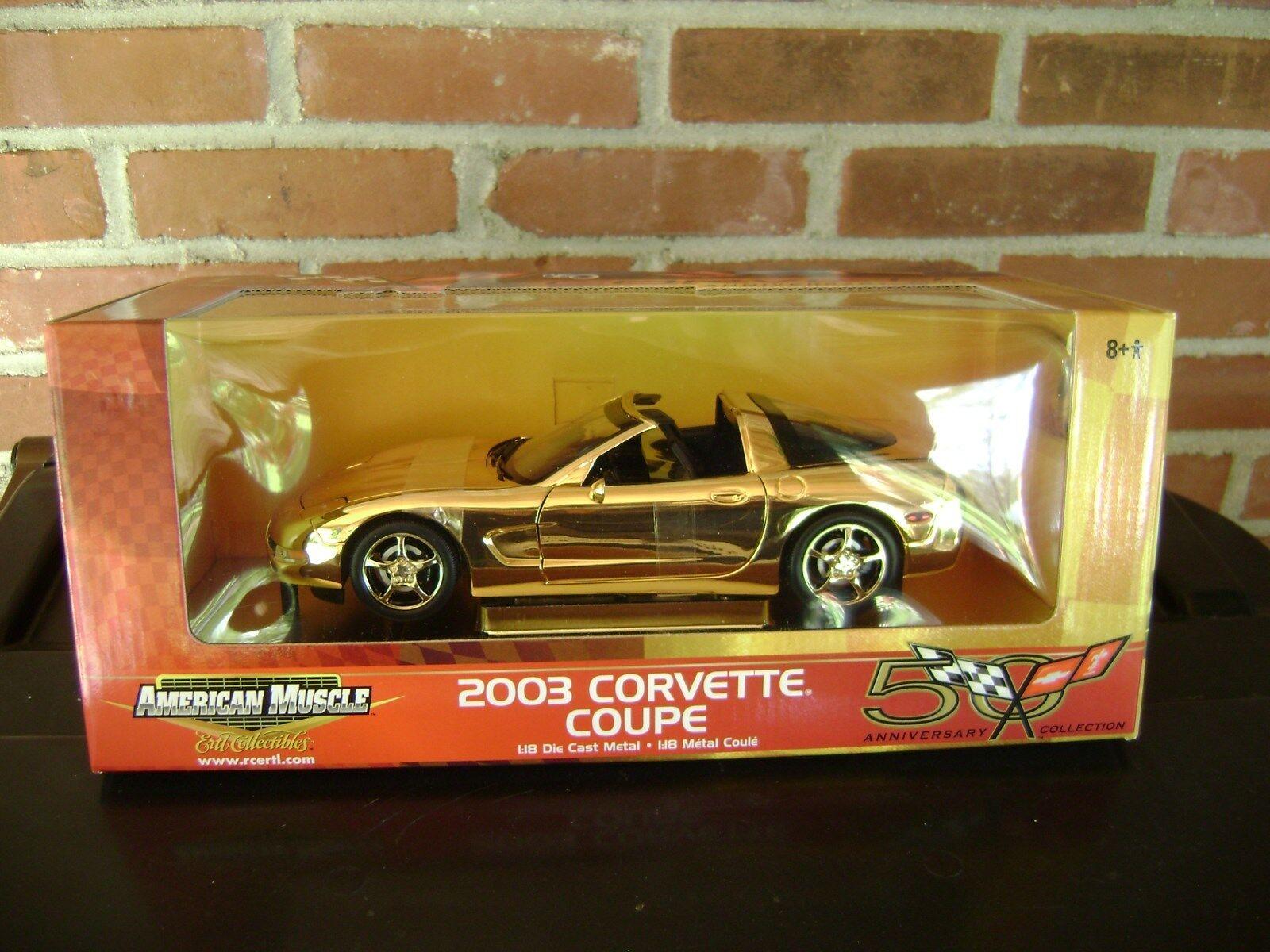 2003 CORVETTE COUPE Gold 50TH ANNIVERSARY CAR