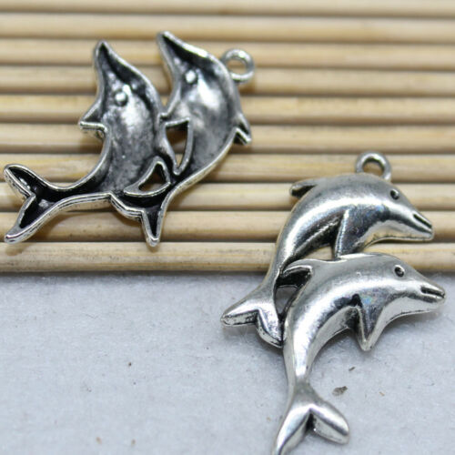 10pc 33x21mm exquisite and interesting Dolphin alloy fashion jewelry accessories