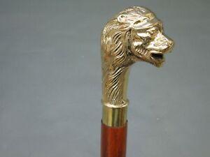 Designer Brass Long Style Head Handle Vintage Wooden Walking Stick Antique Cane