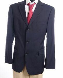 HUGO BOSS Sakko Jacket Rossellini Gr.52 blau gestreift Einreiher 3-Knopf -S809